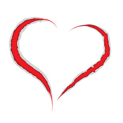 Valentine heart claws scratch