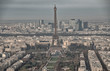 Paris. Aerial view of famous Eiffel Tower. La Tour Eiffel