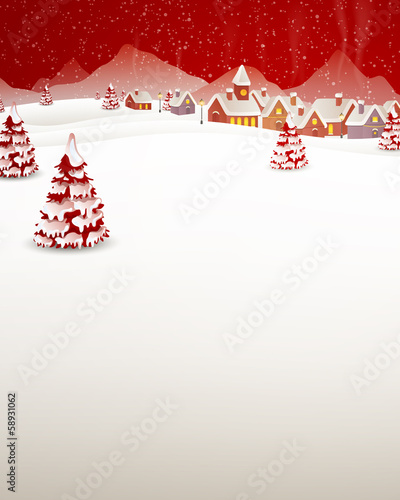 Vector Illustration of a Winter Landscape