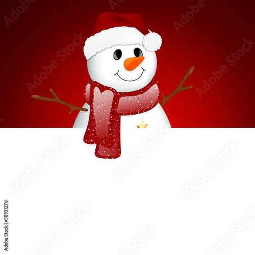 Vector Illustration of a Small Snowman