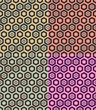 seamless hexagon retro pattern