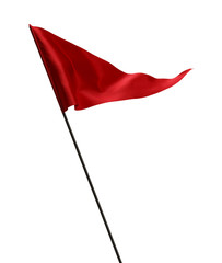 Waving Red Golf Flag