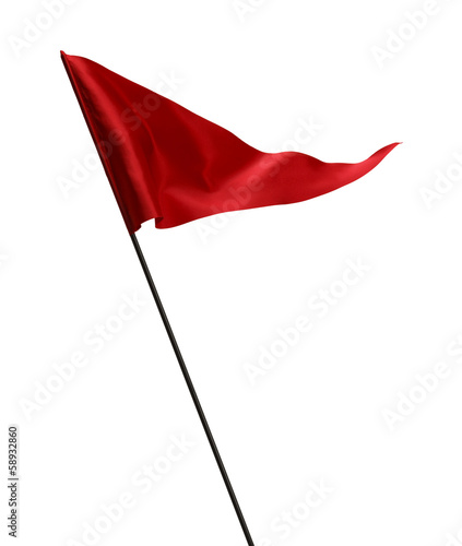 Staande foto Golf Waving Red Golf Flag