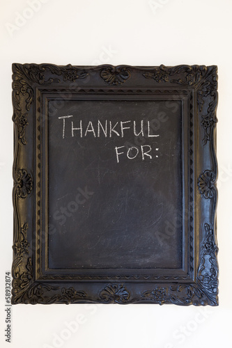 Thankful For Chalkboard