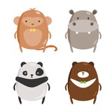 Chubby Zoo Animals Set