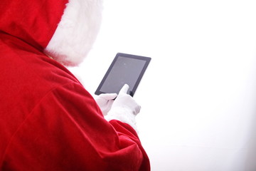 santa claus digital tablet computer