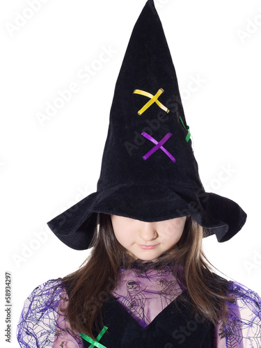 Portrait of girl in magician costume