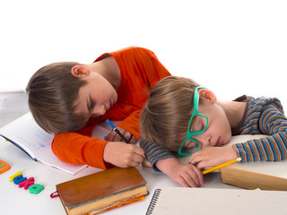 sleeping pupils, partly isolated, boring education