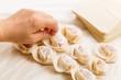 Making of Chinese dumpling