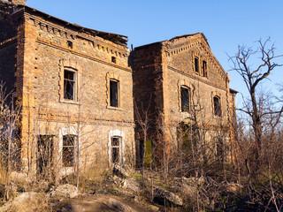 Abandoned old brick house