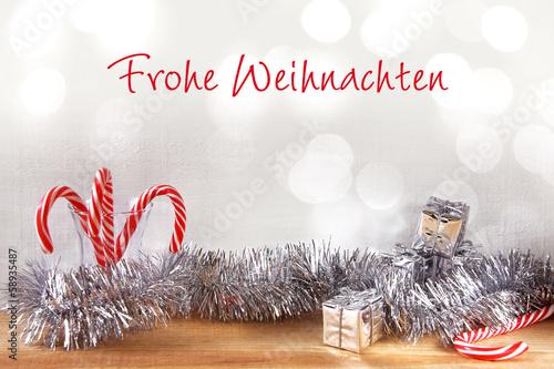 frohe weihnachten zuckerstangen deko
