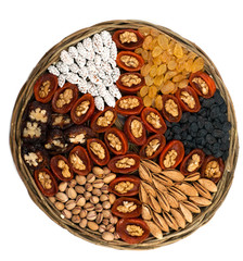 different dried fruits