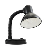 Black office table lamp isolated