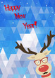 Illustration of Christmas funny deer