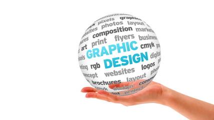 Graphic Design 3d Word Sphere