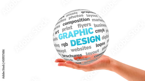 Graphic Design 3d Word Sphere