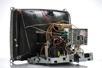 old tube television circuits disassembled
