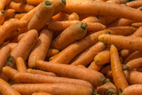 Carrots In Vegetable Market Display
