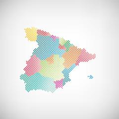 Spanien Provinzen Karte Punkte