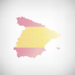 Spanien Flagge Karte Punkte