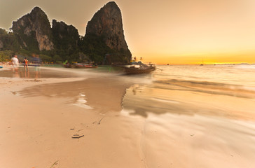 railay beach, Krabi, Thaïlande