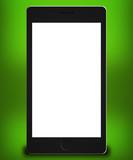 Phone Mockup Green Backdrop poster