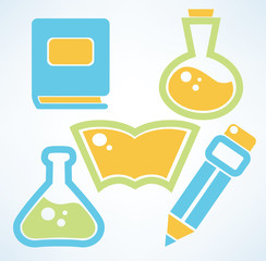 education and science vector symbols
