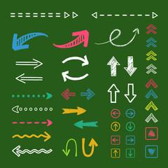 黒板と手描き矢印セット / arrow - vector AI