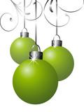 kugel christbaumkugel weihnachtskugel floral gr n gold schleife stockfotos und lizenzfreie. Black Bedroom Furniture Sets. Home Design Ideas