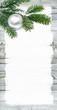 Frohe Weihnachten, DIN lang, Flyer, Weihnachtskarte, Holz