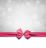 Fototapety Christmas background with pink bow.