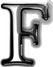 Font illustration LETTRE f
