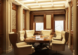 Office interior in classical style