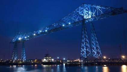 Middlesbrough Transporter Bridge at Night