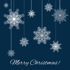 Christmas snowflakes decoration background