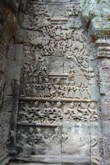 Apsara carved at Angkor Wat