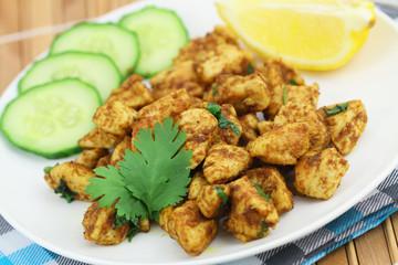 Spicy chicken with fresh coriander