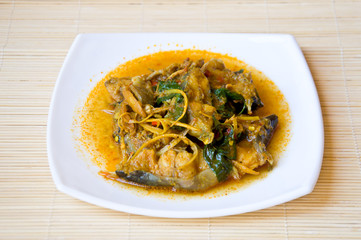 Thai style fish curry