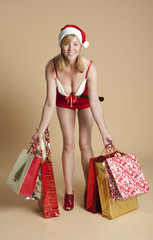 Mrs Santa with her Christmas shopping