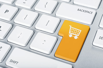 Online shopping cart proceed concept