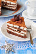 Chocolate, Quark and Prune Layer Cake