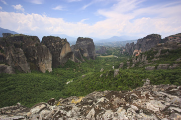 Monastery of Meteora and rocks - Greece