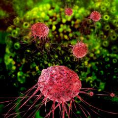 Cancer cells - 3d Rendering
