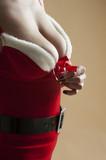 Mrs Santa low neckline poster