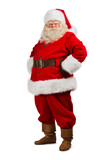 Santa Claus standing isolated on white background - full length