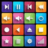 Media player icon. Vector illustration.
