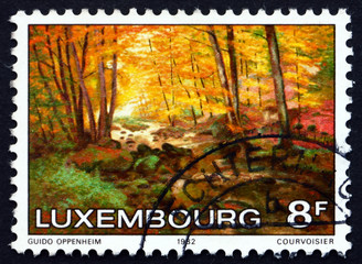 Postage stamp Luxembourg 1982 The Larger Hallerbach, Painting