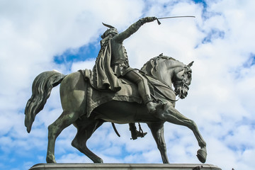 Ban Jelacic statue in Zagreb, Croatia