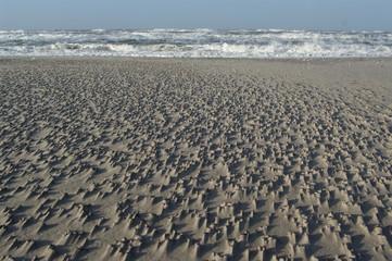 Sandformation am Nordseestrand 1