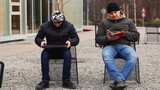 Man reading on the street episode 4